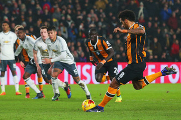 Tom Huddlestone Hull City v Manchester United - EFL Cup Semi-Final: Second Leg