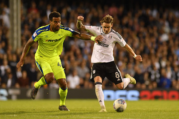 Tom Huddlestone Fulham Vs. Derby County - Sky Bet Championship Play Off Semi Final:Second Leg