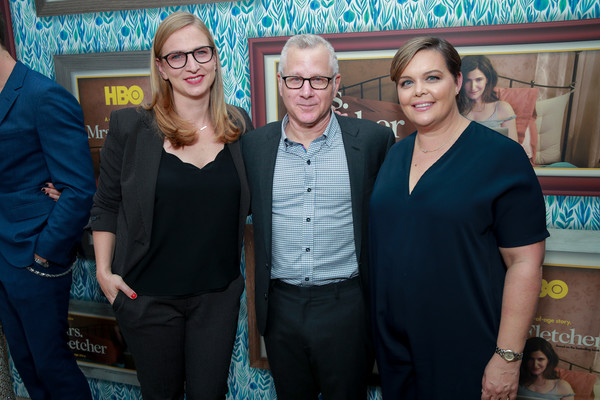 Premiere Of HBO's 'Mrs. Fletcher' - Red Carpet [yellow,event,fun,leisure,party,red carpet,mrs. fletcher,tom perrotta,amy gravitt,helen estabrook,l-r,california,hbo,premiere,premiere]