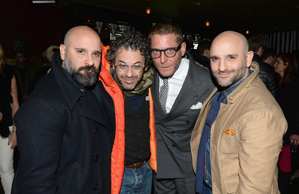"""Lapo Elkann, Marco And Mauro La Villa Host Cocktail Party And Dinner For """"The Art Of Black And White Stripes"""" Curated By Lapo Elkann At Rock & Reilly's - 2014 Park City"""