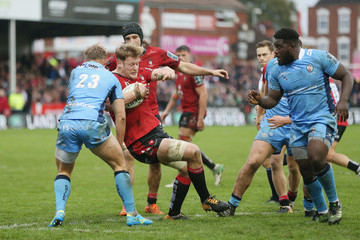 Tom Savage Gloucester Rugby v London Irish - Anglo-Welsh Cup