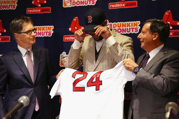 Tom Werner Boston Red Sox Introduce David Price