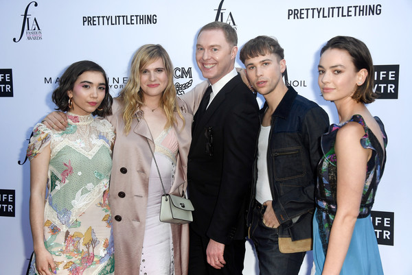 The Daily Front Row's 4th Annual Fashion Los Angeles Awards - Arrivals [premiere,fashion,event,carpet,red carpet,fashion design,flooring,arrivals,stuart vevers,tommy dorfman,rowan blanchard,l-r,beverly hills hotel,daily front row,the daily front row,hari nef,4th annual fashion los angeles awards]