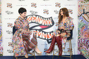 (L-R) Zendaya and Eva Geraldine Fontanelli seen onstage during Tommy Hilfiger TOMMYNOW Spring 2019 : TommyXZendaya at The Galeries Lafayette on March 02, 2019 in Paris, France.