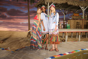 Models Gigi Hadid, Tami Williams, and Maartje Verhoef pose backstage at Tommy Hilfiger Women's Spring 2016 during New York Fashion Week: The Shows  at Pier 36 on September 14, 2015 in New York City.