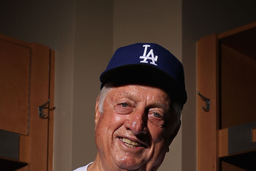 Tommy Lasorda Los Angeles Dodgers Photo Day