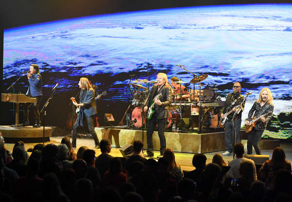 Styx Performs Two-Act Concert Featuring Classic Hits And 'The Mission' In Its Entirety In Las Vegas [styx performs two-act concert featuring classic hits and the mission,performance,stage,entertainment,concert,performing arts,sky,event,music,public event,musician,artists,ricky phillips,james,todd sucherman,entirety,\u0153jy\u00e2,l-r,las vegas,concert theater]