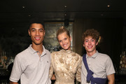 Desire Mia, Toni Garrn, Valentin Humbroich attend Toni Garrn Foundation Supermodel Flea Market 2019 Launch Party at The Blond on September 11, 2019 in New York City.