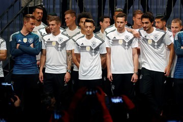 Toni Kroos Julian Draxler Germany and Adidas Present the New Kit for the 2018 FIFA World Cup Russia