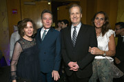 Robin Dearden, Bryan Cranston, Jeff Daniels, and Kathleen Rosemary Treado attend the Tony Honors Cocktail Party Presenting The 2019 Tony Honors For Excellence In The Theatre And Honoring The 2019 Special Award Recipients at Sofitel Hotel on June 03, 2019 in New York City.