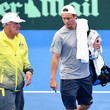 Tony Roche Team Training Sessions & Press Conference: Davis Cup World Group First Round - Australia v Brisbane