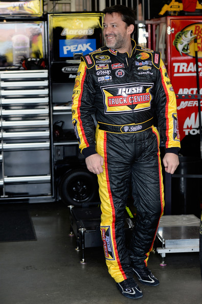 Tony Stewart in The Garage at Auto Club Speedway