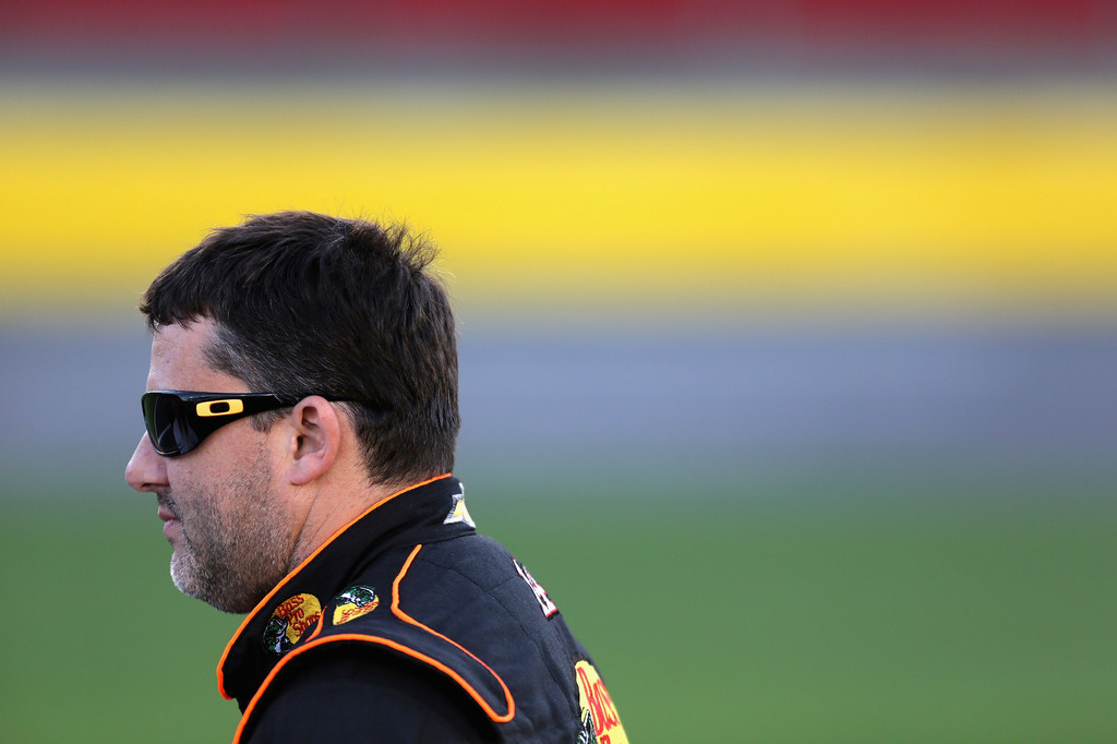 Tony Stewart on the qualifying grid for the CocaCola 600