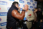 Adam Richman and Andrew Zimmern attend on display at Top Dog: A NY Hot Dog Competition Hosted By Andrew Zimmern, part of LOCAL presented by Delta Air Lines, during Food Network & Cooking Channel New York City Wine & Food Festival presented By FOOD & WINE at The Standard Highline on October 17, 2015 in New York City.
