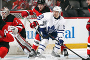 Tomas Plekanec #19 of the Toronto Maple Leafs skates against the New Jersey Devils at the Prudential Center on April 5, 2018 in Newark, New Jersey. The Devils defeated the Maple Leafs 2-1 to clinch a playoff position.
