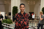 Flaviana Matata attends Tory Burch NYFW SS20 at the Brooklyn Museum on September 08, 2019 in Brooklyn City.