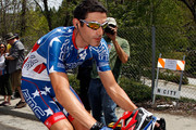 George Hincapie of team BMC Racing rides to the start of stage one of the Tour of California on May 16, 2010 in Nevada City, California.