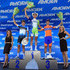 Heinrich Haussler Photos - Peter Sagan (C) of Slovakia riding for Liquigas-Cannondale takes the podium after his stage win along with Heinrich Haussler (L) of Australia riding for Garmin-Barracuda in second place and Michael Matthews (R) of Australia riding for Rabobank Cycling Team in stage four of the Amgen Tour of California from Sonora to Clovis on May 16, 2012 in Sonora, California. - Heinrich Haussler Photos - 15 of 51