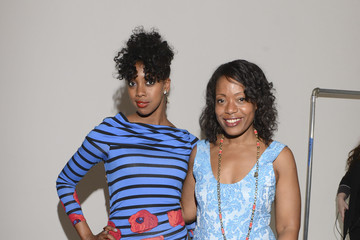 Tracy Reese Backstage at the Tracy Reese Show