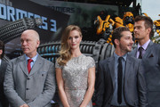 "(From L to R) Actor John Malkovich, actress Rosie Huntington-Whiteley, actor Shia LaBeouf and actor Josh Duhamel attend the ""Transformers 3"" press conference at the Ritz-Carlton Hotel on June 25, 2011 in Berlin, Germany."