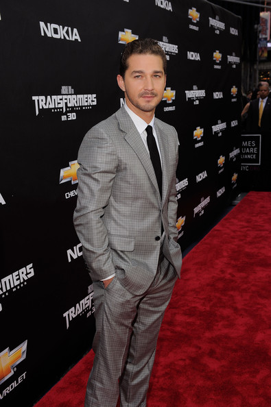"Shia LaBeouf attends the New York premiere of ""Transformers: Dark Side Of The Moon"" in Times Square on June 28, 2011 in New York City."