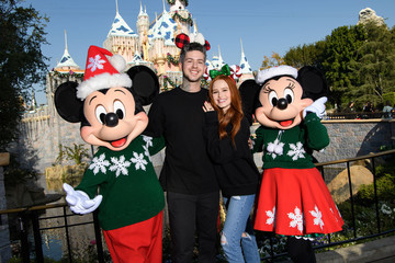 Travis Mills Actress Madelaine Petsch and TV and Radio Personality Travis Mills Enjoy the Holidays at Disneyland