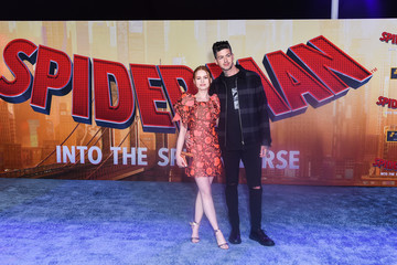 Travis Mills Madelaine Petsch World Premiere Of Sony Pictures Animation And Marvel's 'Spider-Man: Into The Spider-Verse' - Red Carpet