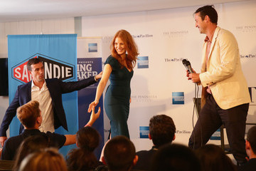 Trevor Groth Jessica Chastain Talks to Students at Cannes