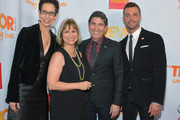 """(L-R) Trevor Project Executive Director & CEO Abbe Land,  Cofounder of the Trevor Project Peggy Rajski, Cofounder of the Trevor Project James Lecesne, and Trevor Project Chair Ken Campbell arrive at """"Trevor Live"""" honoring Katy Perry and Audi of America for The Trevor Project held at The Hollywood Palladium on December 2, 2012 in Los Angeles, California."""
