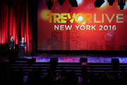 Honorees Jordan Roth and Richie Jackson speak onstage at The Trevor Project's TrevorLIVE New York on June 13, 2016 in New York City.