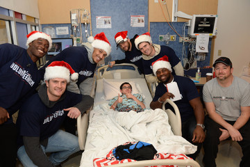 Trevor Reilly New England Patriots Deck the Halls of Boston Children's Hospital With Carols, Laughter, and Holiday Cheer