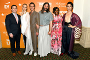 (L-R) Amit Paley, Cara Delevingne, Antoni Porowski, Jonathan Van Ness, Nicole Byer and Eugene Lee Yang attend TrevorLIVE NY 2019 at Cipriani Wall Street on June 17, 2019 in New York City.