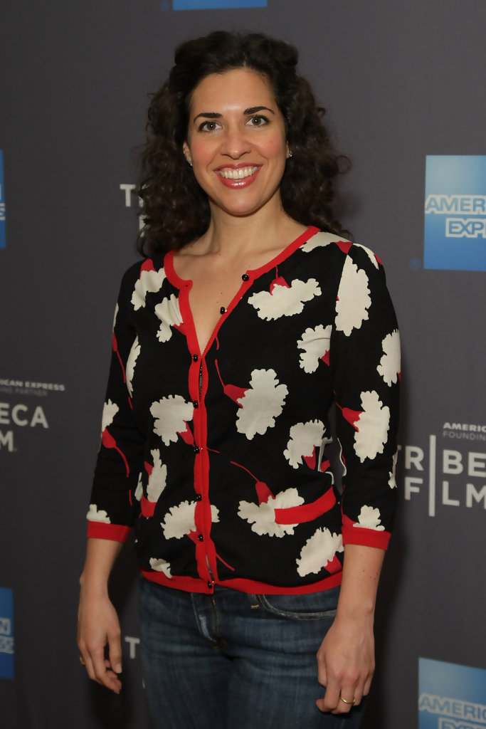 Jac Schaeffer is seen at the New York theatrical premiere of Tribeca Films' inaugural release slate at the Tribeca Cinemas Gallery in 2010.