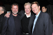 (L-R) Editor Chip Smith, actor Christopher McDonald and Brett Cullen attend the Tribeca Film Festival after-party for Puncture hosted by (Red) at 1OAK on April 21, 2011 in New York City.