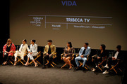 (L-R) Tanya Saracho, Melissa Barrera, Mishel Prada, Ser Anzoategui, Chelsea Rendon, Carlos Miranda, Roberta Colindrez and Raul Castillo attend the Tribeca TV: Vida during 2019 Tribeca Film Festival at SVA Theater on May 02, 2019 in New York City.