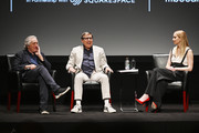 Robert De Niro, David O. Russell and Jennifer Lawrence speaks at the Tribeca Talks - Director Series - David O. Russell with Jennifer Lawrence at the 2019 Tribeca Film Festival at BMCC Tribeca PAC on April 27, 2019 in New York City.