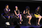(L-R) Paul W. Downs, Lucia Aniello, ,lana Glazer and Abbi Jacobson  attend Tribeca Tune In: Broad City - 2016 Tribeca Film Festival at Spring Studios on April 17, 2016 in New York City.