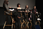 Moderator Willa Paskin, actress/ writer Ilana Glazer, director Lucia Aniello and actor/ writer Paul W. Downs speak on stage at Tribeca Tune In: Time Traveling Bong during the 2016 Tribeca Film Festival at SVA Theater 1 on April 16, 2016 in New York City.