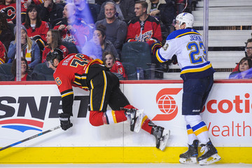 Troy Brouwer St Louis Blues v Calgary Flames