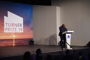 Edward Enninful, Editor-in-Chief of British Vogue announces the winner of Turner Prize 2019 in Margate.