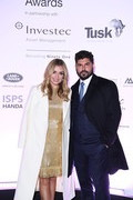 Katherine Jenkins and Andrew Levitas attend the Tusk Conservation Awards ceremony at Empire Cineworld on November 21, 2019 in London, England.