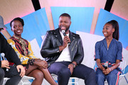 (L-R) Lupita Nyong'o, Winston Duke and Shahadi Wright Joseph at the #TwitterHouse for a conversation with the cast of 'Us' during SXSW on March 8, 2019 in Austin, Texas.