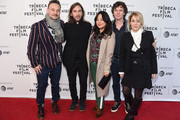 """Juan Cabral, Chris Clark, and Flora Fernandez Marengo pose with cast and crew at the """"Two/One"""" screening during the 2019 Tribeca Film Festival at SVA Theater on April 28, 2019 in New York City."""