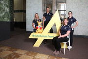 Athletes (L-R) Torah Bright, Liz Cambage, Holly Lincoln-Smith and Alicia Quirk pose during the Two Years To Go countdown ahead of the 2016 Rio Olympic Games at Museum of Contemporary Art on August 5, 2014 in Sydney, Australia.
