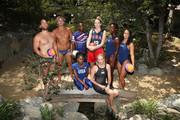 (L-R) Team USA athletes Alex Bowen, Jesse Smith, Carlin Isles, Katie Lou Samuelson, Ashleigh Johnson, Maggie Steffens (front row) Kendall Ellis and Dana Vollmer celebrate the two year countdown to the 2020 Olympic Games in Tokyo at the Japanese American Community Center on July 24, 2018 in Los Angeles, California.