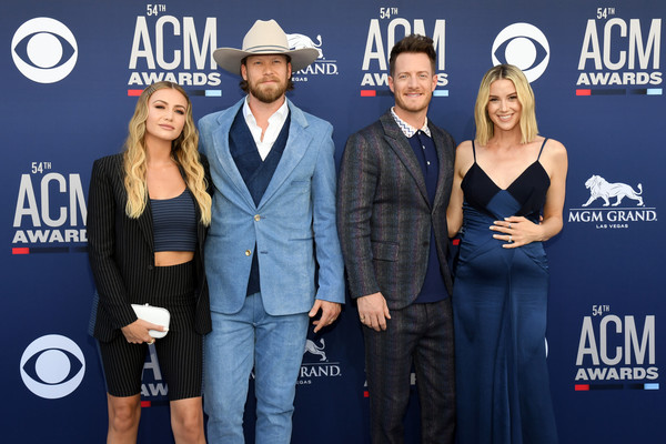 54th Academy Of Country Music Awards - Arrivals [event,premiere,talent show,performance,carpet,arrivals,brittney marie kelley,brian kelley,tyler hubbard,hayley hubbard,las vegas,nevada,mgm grand hotel casino,academy of country music awards,florida georgia line]
