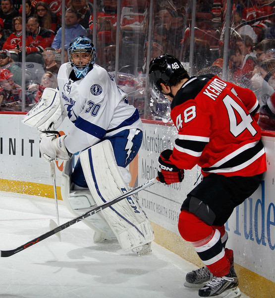 on sale 2b95f a77f9 Tyler Kennedy and Ben Bishop Photos Photos - Tampa Bay ...