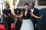 (L-R) Idris Elba, Crystal Fox,  Kerry Washington and Tyler Perry attend Tyler Perry being honored with a Star on the Hollywood Walk of Fame on October 01, 2019 in Hollywood, California.