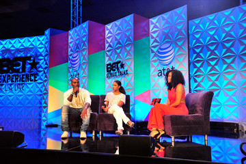 Tyrese Gibson Kelly Rowland and Tyrese Speak Onstage at the 2015 BET Experience in LA
