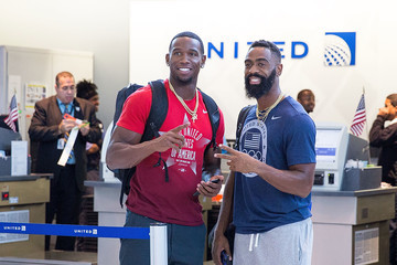 Tyson Gay United Airlines Celebrates Team USA As Over 85 U.S. Athletes Get Ready To Board Their Flight At George Bush Intercontinental Airport In Houston on August 3, 2016, En route To Rio To Chase Their Dreams Of Winning Olympic Gold